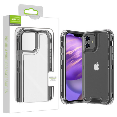 Airium Hybrid Protector Cover for Apple iPhone 12 mini (5.4) - Transparent Smoke / Transparent Clear
