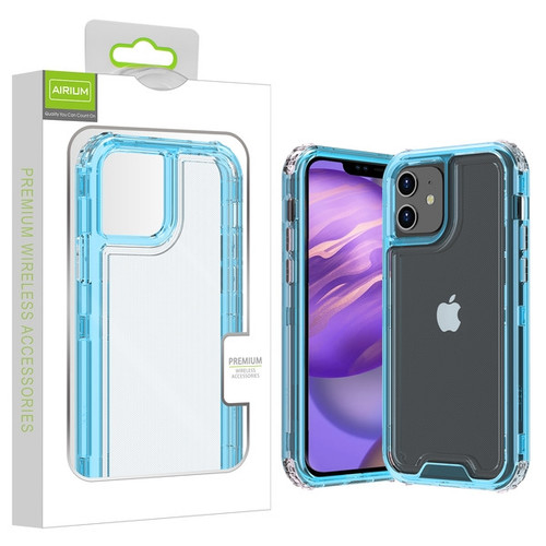 Airium Hybrid Protector Cover for Apple iPhone 12 mini (5.4) - Transparent Baby Blue / Transparent Clear