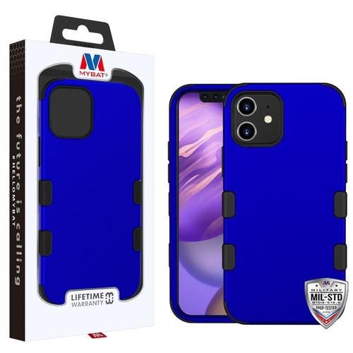 MyBat TUFF Hybrid Protector Case [Military-Grade Certified] for Apple iPhone 12 mini (5.4) - Titanium Dark Blue / Black