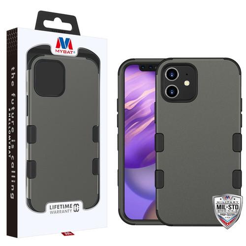MyBat TUFF Hybrid Protector Cover [Military-Grade Certified] for Apple iPhone 12 mini (5.4) - Rubberized Copper Grey / Black