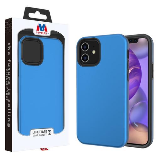 MyBat Fuse Hybrid Protector Cover for Apple iPhone 12 mini (5.4) - Rubberized Dark Blue / Black
