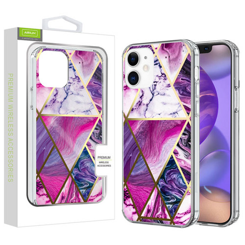 Airium Fusion Protector Cover for Apple iPhone 12 mini (5.4) - Electroplated Purple Marbling