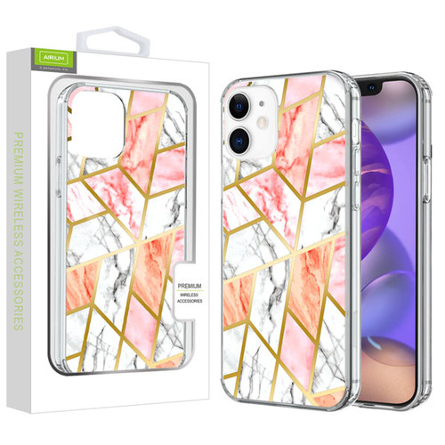 Airium Fusion Protector Cover for Apple iPhone 12 mini (5.4) - Electroplated Pink Marbling