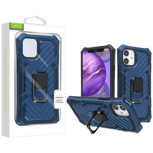 Airium Hybrid Case (with Ring Stand) for Apple iPhone 12 mini (5.4) - Dark Blue / Black