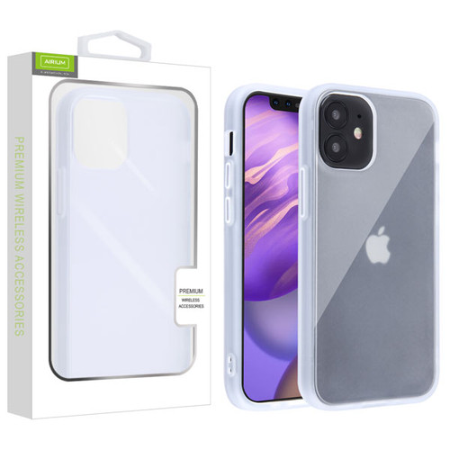 Airium Frost Hybrid Protector Cover for Apple iPhone 12 mini (5.4) - Semi Transparent White Frosted / Rubberized Semi Transparent White