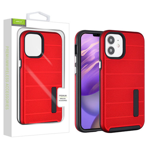 Airium Fusion Protector Case for Apple iPhone 12 mini (5.4) - Red Dots Textured / Black