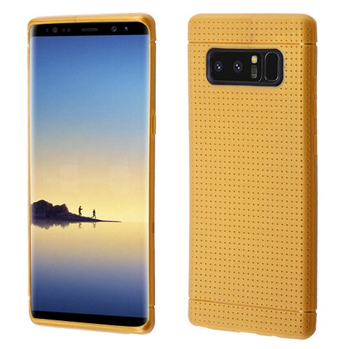 Airium Lattice Points Candy Skin Cover for Samsung Galaxy Note 8 - Gold