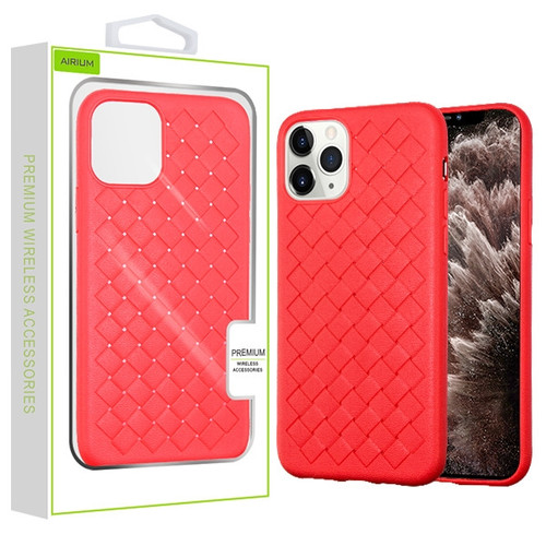 Airium Woven Grain Candy Skin Cover for Apple iPhone 11 Pro Max - Red