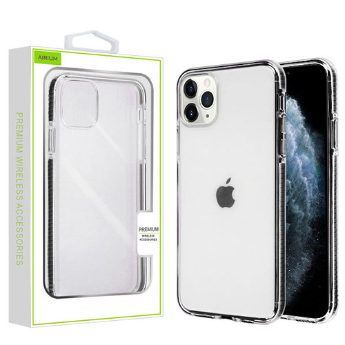 Airium Bumper Candy Skin Cover for Apple iPhone 11 Pro - Transparent Clear / Black