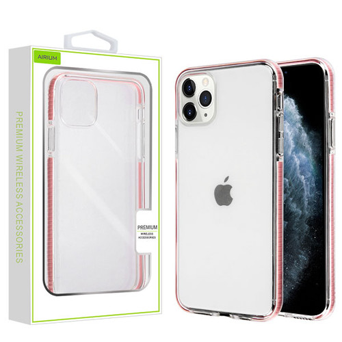 Airium Bumper Candy Skin Cover for Apple iPhone 11 Pro - Transparent Clear / Pink