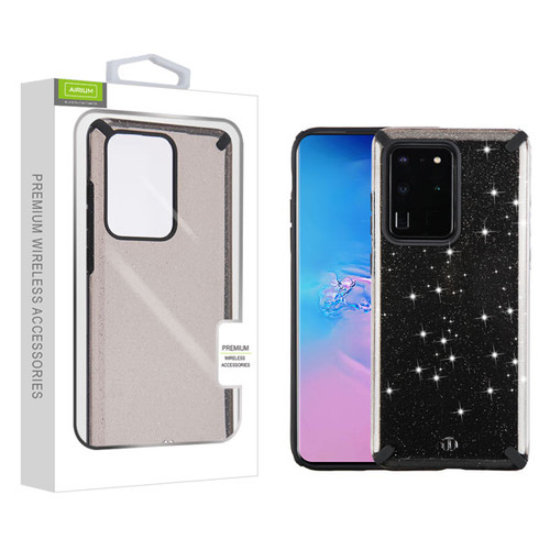 Airium Fusion Protector Cover for Samsung Galaxy S20 Ultra (6.9) - Black Glitter