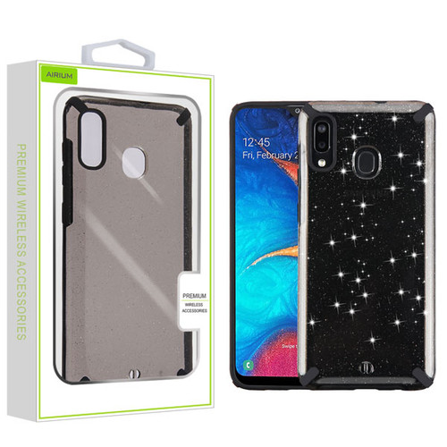 Airium Fusion Protector Cover for Samsung Galaxy A20 - Black Glitter