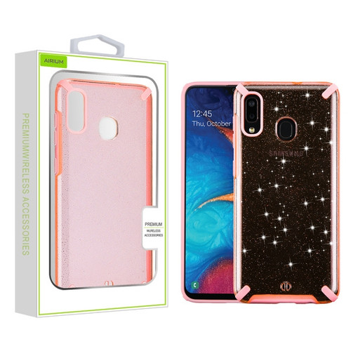 Airium Fusion Protector Cover for Samsung Galaxy A20 - Pink Glitter