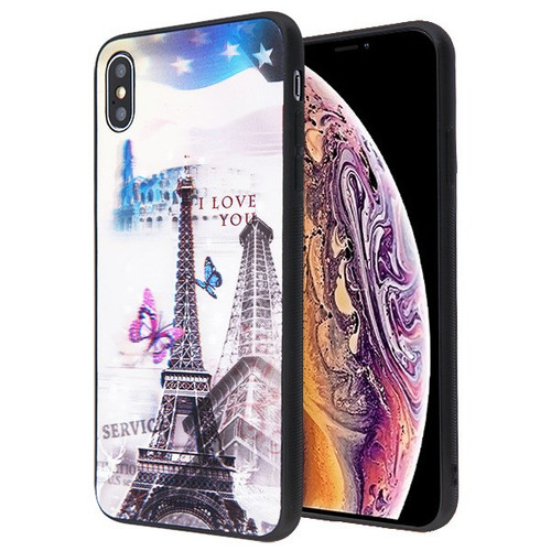 Airium Stereograph Hybrid Protector Cover for Apple iPhone XS Max - 3D Eiffel Tower