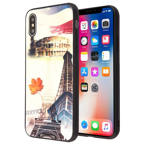 Airium Stereograph Hybrid Protector Cover for Apple iPhone XS/X - 3D Eiffel Tower