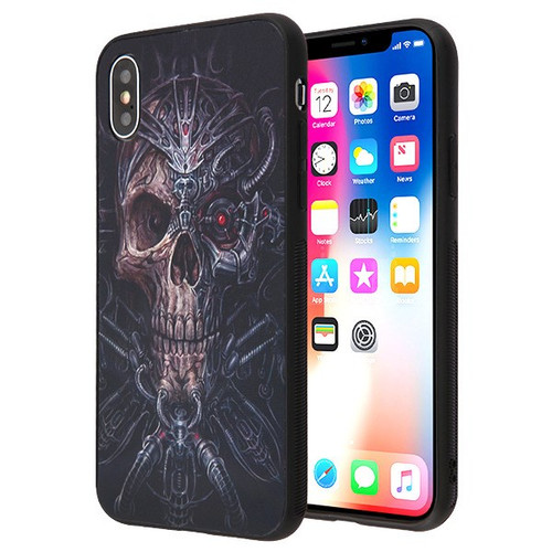 Airium Stereograph Hybrid Protector Cover for Apple iPhone XS/X - 3D Pirate Skull