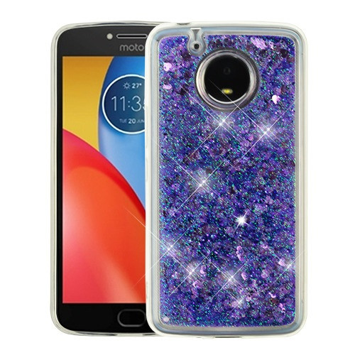 Airium Quicksand Glitter Hybrid Protector Cover for Motorola XT1773 (Moto E4 Plus) - Hearts & Purple