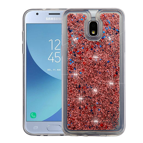 Airium Quicksand Glitter Hybrid Protector Cover for Samsung J337 (Galaxy J3 (2018)) - Rose Gold