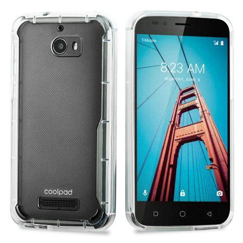 Airium Scratch-Resistant Gummy Cover for Coolpad 3632 (Defiant) - Highly Transparent Clear / Transparent Clear