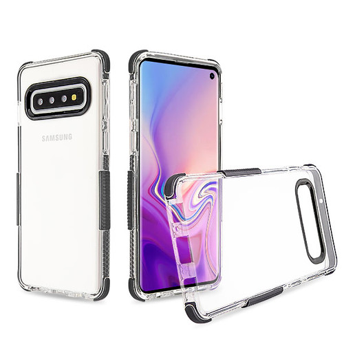 Airium Bumper Sturdy Candy Skin Cover for Samsung Galaxy S10 - Transparent Clear / Black