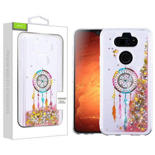 Airium Quicksand Glitter Hybrid Protector Cover for Lg K31 (Aristo 5)/Fortune 3 - Dreamcatcher & Gold Stars