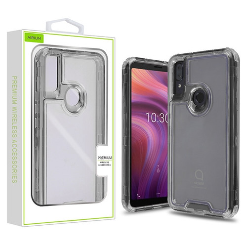 Airium Hybrid Protector Cover for Alcatel 5032w (3v 2019) - Transparent Smoke / Transparent Clear