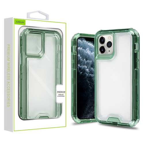 Airium Hybrid Protector Cover for Apple iPhone 11 Pro - Transparent Green / Transparent Clear