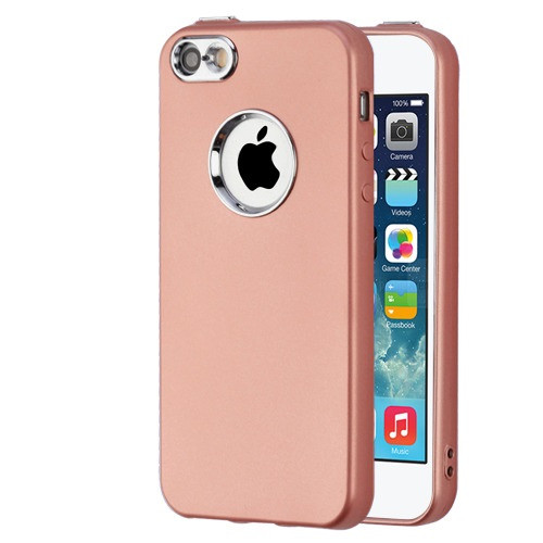 Airium Candy Skin Cover (with Electroplating Accents) for Apple iPhone SE - Rose Gold