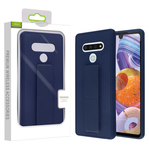 Airium Hybrid Case (with Foldable Stand) for Lg Stylo 6 - Ink Blue