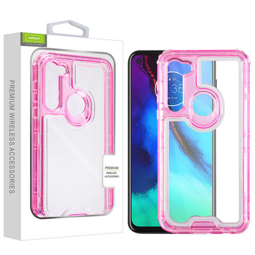 Airium Hybrid Protector Cover for Motorola Moto G Stylus - Transparent Pink / Transparent Clear