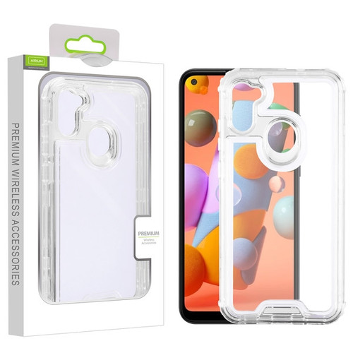 Airium Hybrid Protector Cover for Samsung Galaxy A11 - Transparent Clear / Transparent Clear