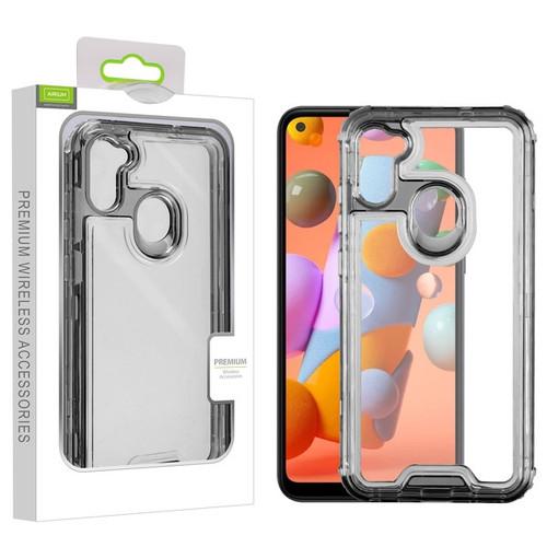 Airium Hybrid Protector Cover for Samsung Galaxy A11 - Transparent Smoke / Transparent Clear