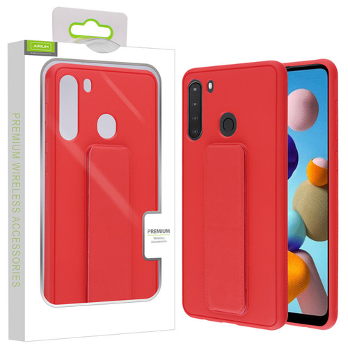 Airium Hybrid Case (with Foldable Stand) for Samsung Galaxy A21 - Red