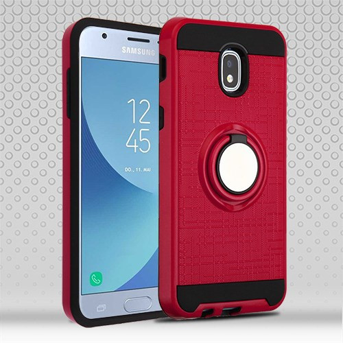 Airium Hybrid Protector Cover (with Stand) for Samsung J337 (Galaxy J3 (2018)) - Red / Black