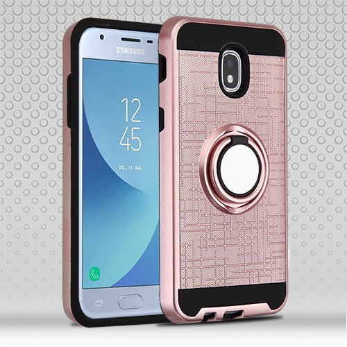 Airium Hybrid Protector Cover (with Stand) for Samsung J337 (Galaxy J3 (2018)) - Rose Gold / Black