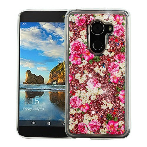 Airium Quicksand Glitter Hybrid Protector Cover for Alcatel Walters - European Rose & Rose Gold