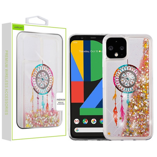 Airium Quicksand Glitter Hybrid Protector Cover for Google Pixel 4 - Dreamcatcher & Gold Stars