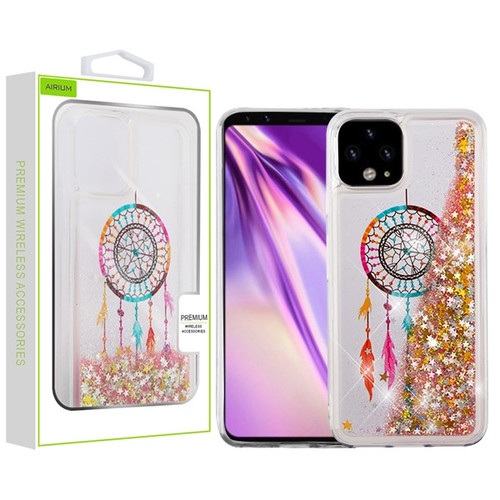 Airium Quicksand Glitter Hybrid Protector Cover for Google Pixel 4 XL - Dreamcatcher & Gold Stars