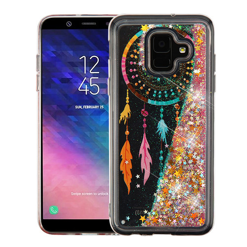 Airium Quicksand Glitter Hybrid Protector Cover for Samsung Galaxy A6 (2018) - Dreamcatcher & Gold Stars