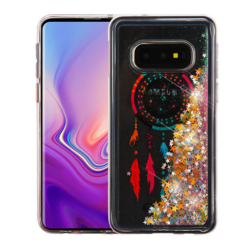 Airium Quicksand Glitter Hybrid Protector Cover for Samsung Galaxy S10E - Dreamcatcher & Gold Stars