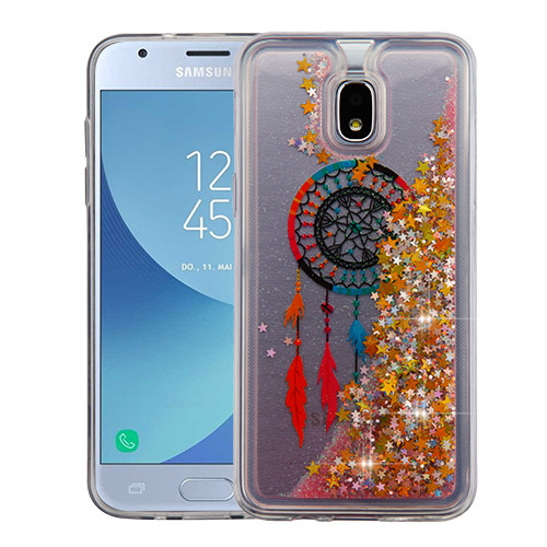 Airium Quicksand Glitter Hybrid Protector Cover for Samsung J337 (Galaxy J3 (2018)) - Dreamcatcher & Gold Stars
