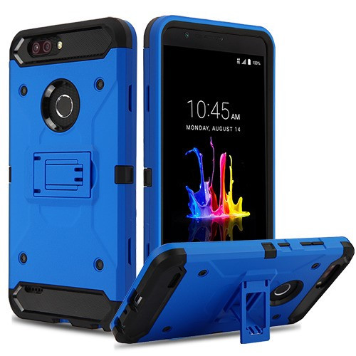 Airium Kinetic Hybrid Protector Cover for Zte Z982 (Blade Z Max) - Blue / Black