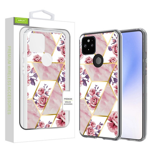 Airium Fusion Protector Case for Google Pixel 5 XL - Electroplated Roses Marbling