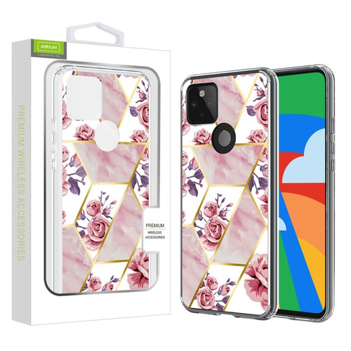 Airium Fusion Protector Case for Google Pixel 5 - Electroplated Roses Marbling