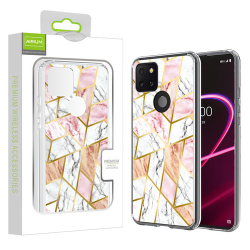 Airium Fusion Protector Cover for T-mobile Revvl 5G - Electroplated Pink Marbling