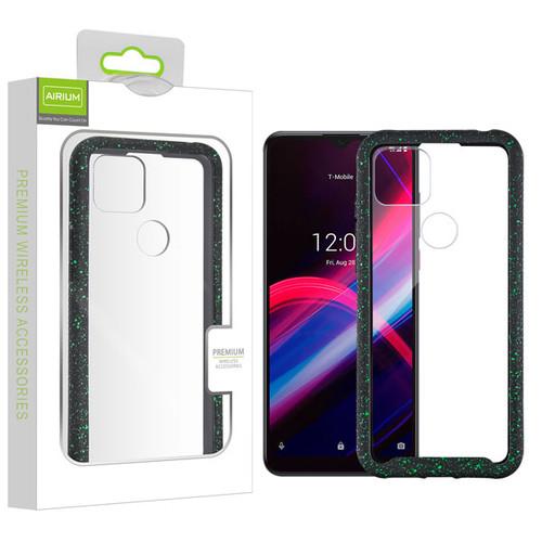 Airium Splash Hybrid Case for T-mobile Revvl 4+ - Highly Transparent Clear / Black