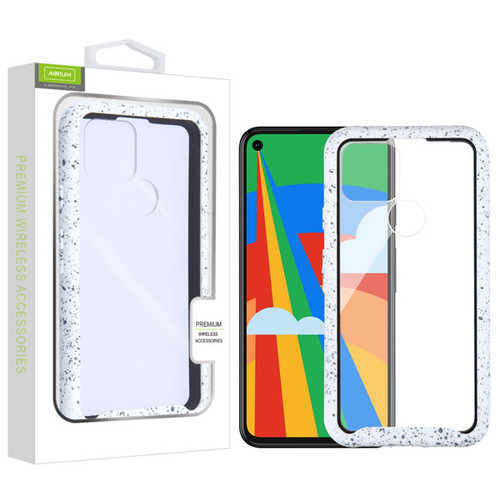 Airium Splash Hybrid Case for Google Pixel 5 - Highly Transparent Clear / White