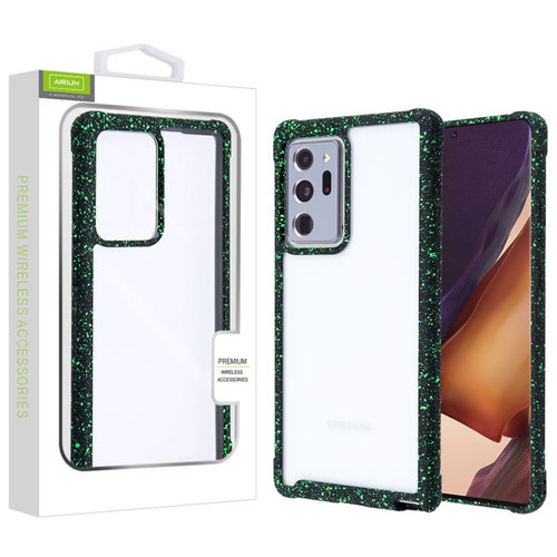 Airium Splash Hybrid Case for Samsung Galaxy Note 20 Ultra - Highly Transparent Clear / Black