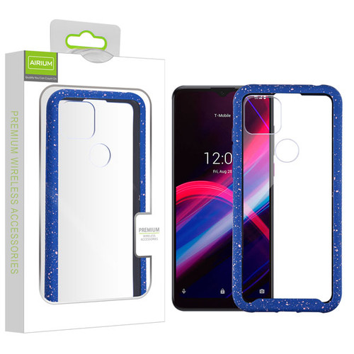 Airium Splash Hybrid Case for T-mobile Revvl 4+ - Highly Transparent Clear / Blue