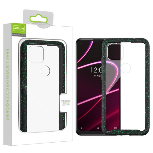 Airium Splash Hybrid Case for T-mobile Revvl 5G - Highly Transparent Clear / Black